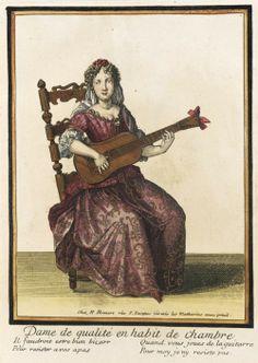 17th century French female musicians, circa 1682