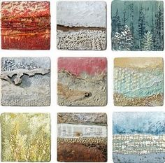 """Above and Beyond"" series, by Robin Luciano  (Encaustic textures)"