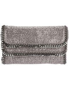Stella McCartney Falabella clutch #shine #sparkle #silver