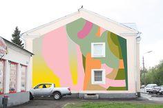 series of digital murals on photos