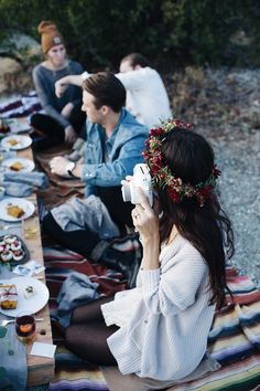 Holiday Feast By The Lake — Mel Denisse Pelo Cafe, Photo D Art, Boho, Flower Crown, Life Is Beautiful, Holiday Parties, Just In Case, Party Time, In This Moment