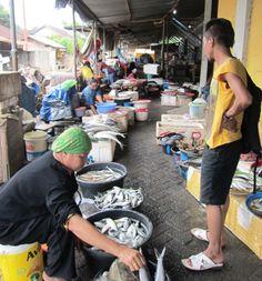 Mercado de pescado en Lombok