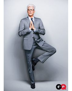How to Wear Gray Suits Ted Danson A gray suit always works with a white shirt and dark tie. But try mixing a subtle, muted pattern like gingham, showing you've got style