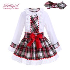 We love it and we know you also love it as well Pettigirl Grid Girl Clothing Sets Lace Collar Blouse With A-line Bow Skirt Children Autumn Clothing With Headbands G-DMCS908-959 just only $39.77 with free shipping worldwide  #girlsclothing Plese click on picture to see our special price for you