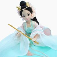 Ancient costume clothes doll The joint body toy dragon girl doll