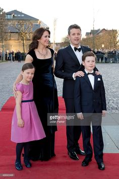 --Gala Night on April 8, 2015 in Aarhus, Denmark---Crown Princess Mary and Crown Prince Frederik of Denmark with their... News Photo | Getty Images