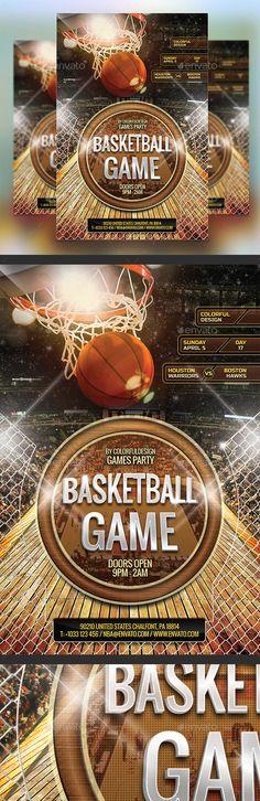 BasketBall Game Flyer Template - http\/\/wwwffflyer\/basketball - basketball flyer example