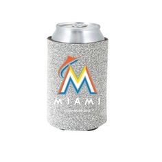 Miami Marlins MLB Glitter Can Holder Cooler