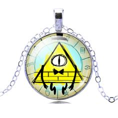 >> Click to Buy << 9 Models Fashion Pendant Necklaces Jewelry For Men Women Bill Cipher Glass Cabochon Long Necklace Silver Plated Chain Necklaces  #Affiliate
