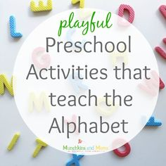 Playful and out-of-the-box preschool activities that teach the alphabet!