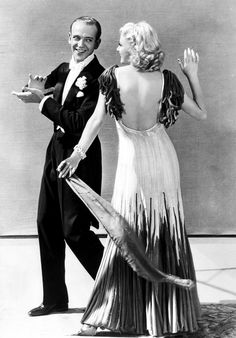 Fred Astaire and Ginger Rogers, 1934. Love her dress. I have always wanted to dance like this man