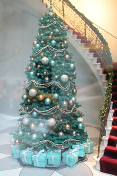 christmas in new york - Tiffany Blue Christmas Decorations