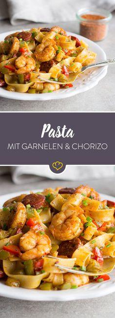 Was kommt raus, wenn du italienische Pasta mit spanischer Chorizo und amerikanischem Gewürzmix kombinierst? Dein neues Lieblingsgericht! (scheduled via http://www.tailwindapp.com?utm_source=pinterest&utm_medium=twpin&utm_content=post125257295&utm_campaign=scheduler_attribution)
