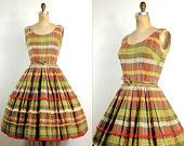 fun 50s style plaid dress