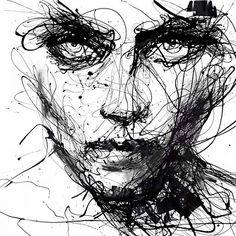 In Trouble, She Will – Agnes Cecile - 7 Black and White Art Prints to Add to Your Home . Agnes Cecile, Art Du Croquis, L'art Du Portrait, Scribble Art, Ouvrages D'art, Drip Painting, Arte Pop, Sketch Art, Face Sketch