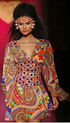 Too much!!: Manish Arora is an Indian Designer with loud cloros. Totally unwearable stuff unless your on the runway, but love how crazy his style is.