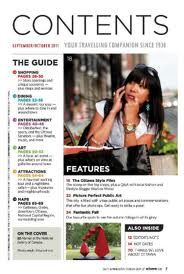 table of contents in magazine - Google Search