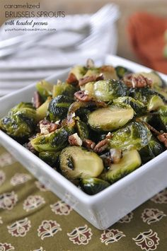 Caramelized Brussel Sprouts with Pecans
