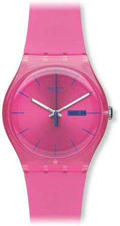 Swatch Women's SUOP700 Quartz Plastic Pink Dial Watch Swatch. Save 3 Off!. $68.00. Quartz movement. Case diameter: 41 mm. Water-resistant to 30 M (99 feet). Casual watch. Plastic Crystal