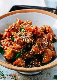 Low FODMAP Recipe and Gluten Free Recipe - Maple & sesame chicken with brown rice