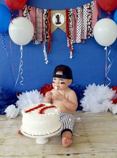 1st Birthday Baseball theme party/photography ideas/baseball