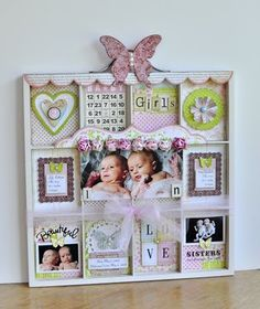 Blessed Scrapper: Archiver's Contest: Twin Baby Girls Printer's Tray
