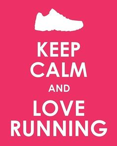 Keep Calm and Love Running Print by TheLobsterPot on Etsy
