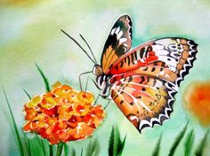 """Butterfly""Watercolor Painting -- Meltem Kilic"