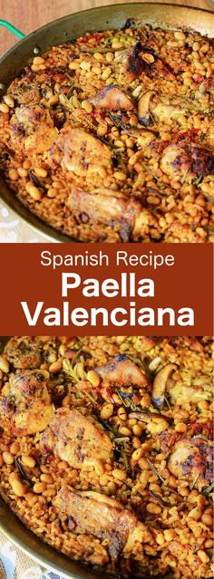 Paella Valenciana is the original Spanish rice dish that traces its modern roots in the century on the east coast of Spain. via spanish food Spanish Dishes, Spanish Rice, Spanish Cuisine, Spanish Tapas, Vegan Quesadilla, Chicken Paella, Seafood Paella, Chicken Chorizo, Valenciana Recipe