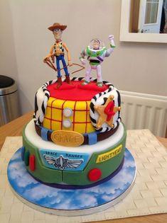 69 Trendy Ideas for birthday cake kids disney toy story Toy Story Birthday Cake, 4th Birthday Cakes, Birthday Fun, Birthday Parties, Birthday Ideas, Toy Story Theme, New Toy Story, Toy Story Party, Bolo Toy Story