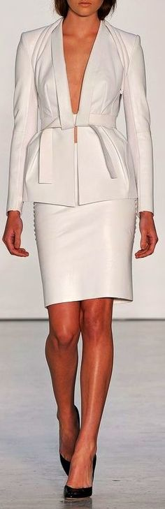 Dion Lee. Leather