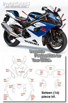 InvisiGARD Invisible Clear Paint & Headlight protection kits for Suzuki GSX-R1000