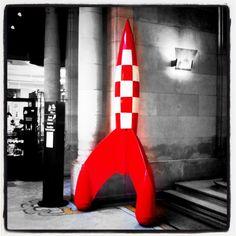 La fusée de Tintin, au Centre Belge de la BD, à Bruxelles