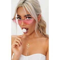 Peach Extreme Cat Eye Sports Sunglasses ($11) ❤ liked on Polyvore featuring accessories, eyewear, sunglasses, orange, lens glasses, sporting sunglasses, sports sunglasses, cateye sunglasses and orange lens sunglasses