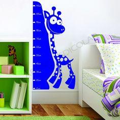 Adesivo para Parede Régua Girafa Infantil - Adesivos Dicolar