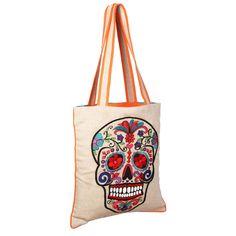 Sugar Skull Bag Natural by Karma Living