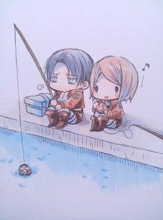 Levi & Petra | Shingeki no Kyojin (by meropan)