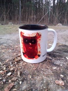 A cup with owl