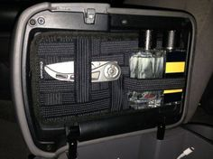 Grid-It Center Console Lid Organizer - No Drilling! - Tacoma World Forums Auto Camping, Truck Camping, New Trucks, Cool Trucks, Pickup Trucks, Jeep Mods, Truck Mods, Carros Toyota, Nissan Navara D40