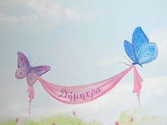 πεταλουδες από ζωγραφικη βρεφικου δωματιου