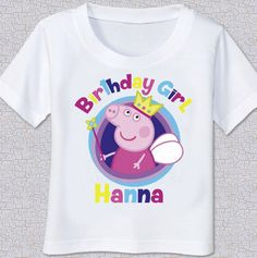 Peppa Pig birthday Tshirt Shirt by swingNmonkeez on Etsy https://www.etsy.com/listing/220465053/peppa-pig-birthday-tshirt-shirt