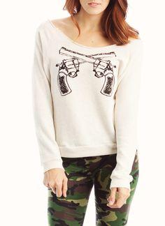 graphic gun sweatshirt $21.90
