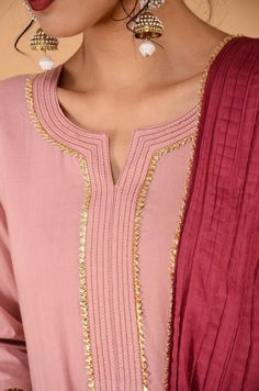 Silk Kurti Designs, Salwar Neck Designs, Neck Designs For Suits, Kurta Neck Design, Sleeves Designs For Dresses, Neckline Designs, Dress Neck Designs, Stylish Dress Designs, Kurta Designs Women