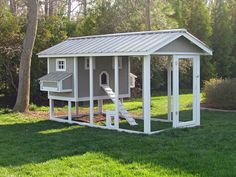 Chicken coop by CarolinaCoops on Etsy, $3500.00 - gorgeous. maybe there's a way to build something like this for much less