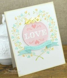 Love You Like A Sister Card by Nichole Heady for Papertrey Ink (November 2012)
