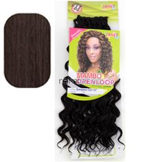 "Mambo Open Loop European Curl Braid 12"" - Color 2 - Synthetic Braiding"