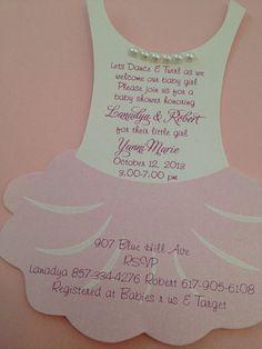 tutu baby shower invitation flat ballerina baby by anaderoux