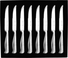 8 Pieces Stainless-Steel Kitchen Steak Knife - Professional Quality - Premium Class - Multipurpose Use for Home Kitchen or Restaurant - By Utopia Kitchen Steak Knife Set, Thing 1, Specialty Knives, Steak Knives, Stainless Steel Kitchen, Magnetic Knife Strip, Knife Sets, Food Preparation, Knife Block