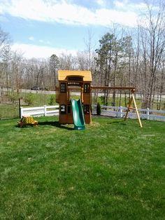 Cedar Summit Cedarview Resort Playset from Costco installed in Barnegate, NJ.