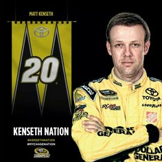 Matt Kenseth starts the chase in Made the chase by points. points behind Nascar Sprint Cup, Nascar Racing, Matt Kenseth, Popular Sports, Race Day, Toyota, My Favorite Things, Athletes, Board